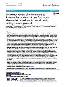 Systematic review of interventions to increase ... - Systematic Reviews