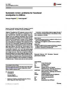 Systematic review: probiotics for functional