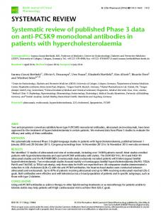 SYSTEMATIC REVIEW Systematic review of published Phase 3 data