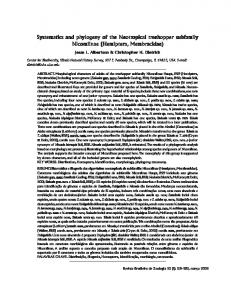 Systematics and ph Systematics and phylogeny of the Neotr ... - Scielo.br