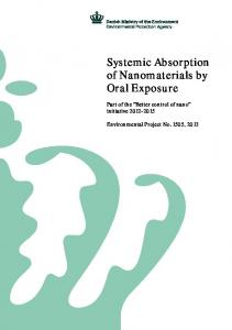 Systemic Absorption of Nanomaterials by Oral Exposure