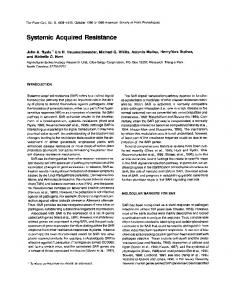 Systemic Acquired Resistance - NCBI