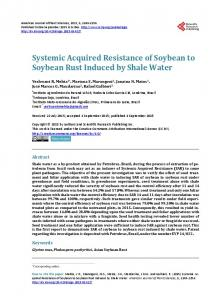Systemic Acquired Resistance of Soybean to Soybean Rust Induced