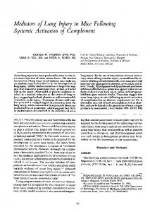 Systemic Activation of Complement - Europe PMC