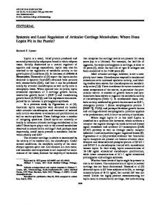 Systemic and local regulation of articular ... - Wiley Online Library