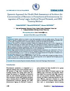 Systemic Approach for Health Risk Assessment of