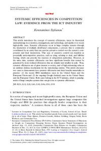 systemic efficiencies in competition law: evidence from ... - SSRN papers