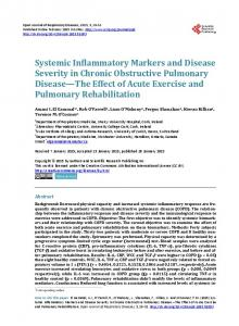 Systemic Inflammatory Markers and Disease ... - Semantic Scholar