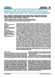 Systemic, local, and imaging biomarkers of brain injury: more ... - Core