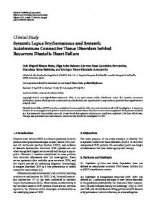 Systemic Lupus Erythematosus and Systemic Autoimmune ...