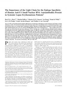 Systemic Lupus Erythematosus Patients Nuclear RNA Autoantibodies ...