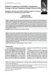 Systemic modelling and simulation - SciELO