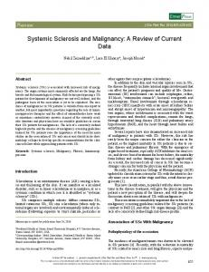 Systemic Sclerosis and Malignancy: A Review of