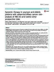 Systemic therapy in younger and elderly patients with ... - Springer Link