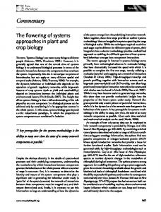 Systems biology or the biology of systems - Wiley Online Library