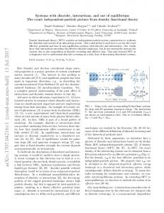 Systems with disorder, interactions, and out of equilibrium: The exact ...