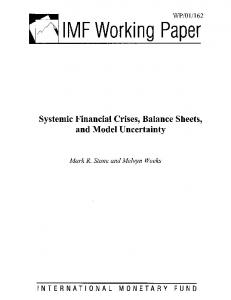 Systrmic Financial Crises, Balance Sheets, and Model