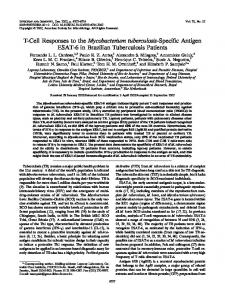 T-Cell Responses to the Mycobacterium tuberculosis-Specific Antigen ...
