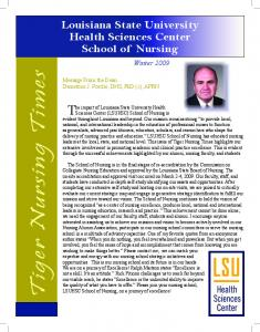 T ig er N u rsin g T im - School of Nursing - LSU Health New Orleans