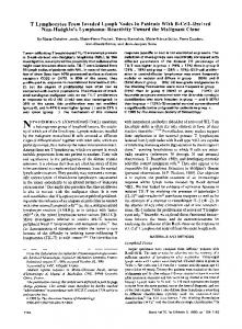 T Lymphocytes From Invaded Lymph Nodes in ... - Semantic Scholar