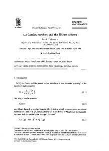 t, q-Catalan numbers and the Hilbert scheme - Mathematics