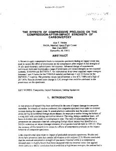 ;t- .... THE EFFECTS OF COMPRESSIVE ... - NTRS - NASA