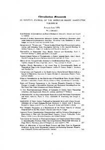 Table of Contents - Circulation Research