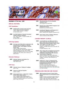 Table of Contents - Clinical Cancer Research