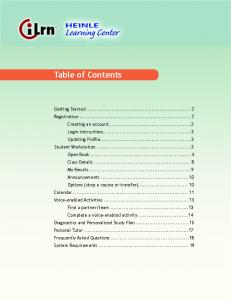 Table of Contents - Heinle