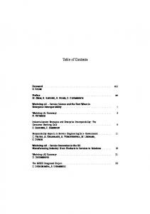 Table of Contents - Iste