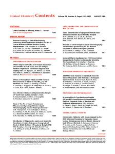 Table of Contents (PDF) - Clinical Chemistry