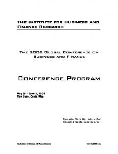 Table of Contents - The Institute for Business and Finance Research
