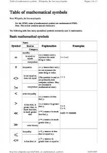 Table of mathematical symbols - IES Jovellanos