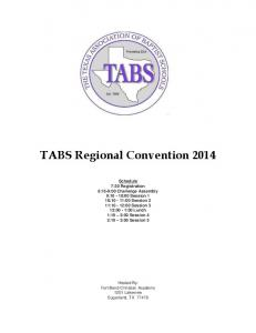 TABS Regional Convention 2014 - Fort Bend Christian Academy