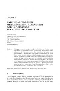 Tabu Search-Based Metaheuristic Algorithm for Large-scale Set ...
