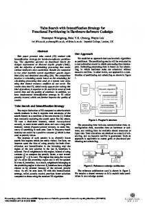 Tabu Search with Intensification Strategy for Functional Partitioning in ...