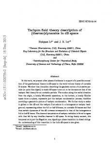 Tachyon field theory description of (thermo) dynamics in dS space