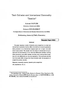 Tacit Collusion and International Commodity Taxation
