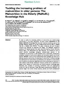 Tackling the increasing problem of malnutrition ... - Wiley Online Library