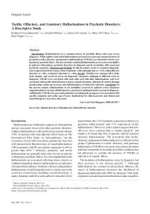 Tactile, Olfactory, and Gustatory Hallucinations in ... - Semantic Scholar
