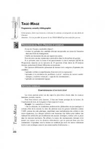 TAGE-MAGE 2010 - Passerelle 2 - Dimension-Commerce