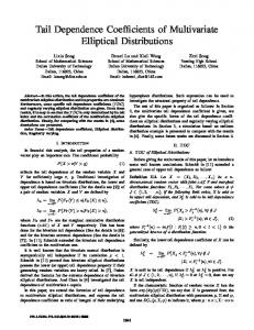 Tail Dependence Coefficients of Multivariate Elliptical Distributions