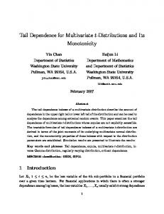 Tail Dependence for Multivariate t-Distributions and Its Monotonicity