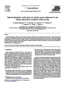 Tailored aluminium oxide layers by bipolar current ...