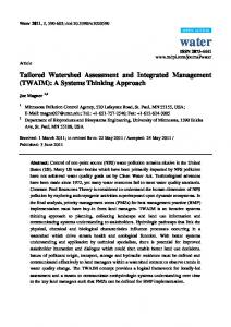 Tailored Watershed Assessment and Integrated Management ... - MDPI