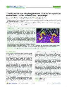 Tailoring Active Sites via Synergy between ... - ACS Publications