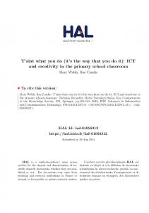 T'aint what you do (it's the way that you do it): ICT and ... - HAL-Inria