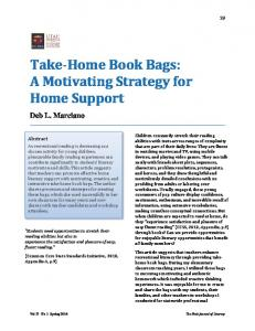 Take-Home Book Bags: A Motivating Strategy for Home Support