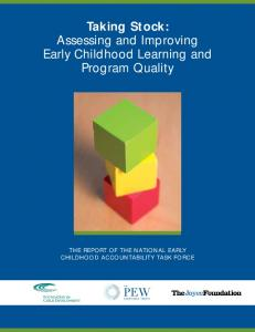 Taking Stock: Assessing and Improving Early Childhood Learning ...