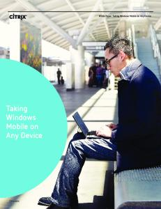 Taking Windows Mobile on Any Device